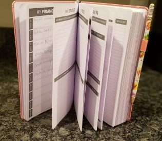 journal set on edge with pages open