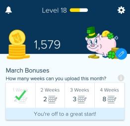 screen shot of the Receipt Hog app